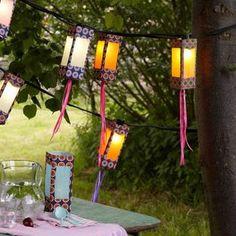 Lanternas de jardim de caixa de leite passo a passo