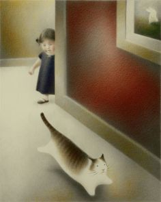 The way this round, fat cat runs reminds me of my own obese cat! BY PETER MCCARTY