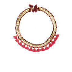 Brass Collar Tassel Necklace | Calypso St. Barth