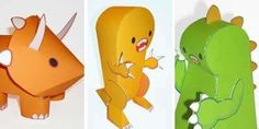 Dinosaur papercraft - Cute dino paper toy by Paper Box World