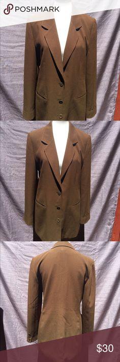 "Vintage 90's Rena Rowan Army Green Blazer Vintage 90's Rena Rowan Army Green Blazer  3 button closure acetate polyester blend dryclean only length 29"" bustline 20"" Rena Rowan Jackets & Coats Blazers"