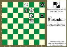 Blancas juegan y ganan, mate en 2 movimientos. Compositor: A. Lebedev, 1936.