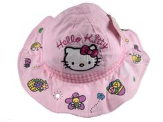 Hello Kitty ne incanta pe palariile de vara! Numai bune pentru a ne proteja fetitele de soare! Pret: 25.00 lei http://hainute-fetite.ro/produs/palarie-vara-hello-kittyroz/