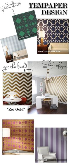 Upgrade your home office with Tempaper Gold Zee