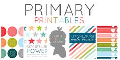 Cute primary printables. She has lots of great gospel centered printables on her blog, for YW, conference quotes, etc
