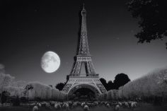"""""""Midnight at the Eiffel Tower in Paris"""""""