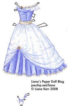 Bella Swan's Hyacinth Blue Prom Dress from Twilight by Stephenie Meyer | Liana's Paper Dolls