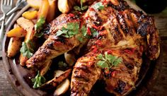 Spicy roast chicken #recipe. Spatchcocking the chicken ensures it will cook in almost half the time.