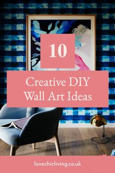 10 Fun and creative ways to add wall art to your walls! Our favourite DIY Crafts for home decoration and wall art! We wanted to show you some creative wall art designs to help inspire your to get crafty and make your very own wall art for your home! #lovechicliving Diy Artwork, Modern Wall Decor, Diy Home Crafts, Wall Art Designs, Wall Ideas, Diy Wall, Home Decor Inspiration, Wall Collage, Photo Wall