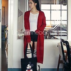 Women's Casual Long Sleeve Cardigan , Knitwear - USD $ 23.99