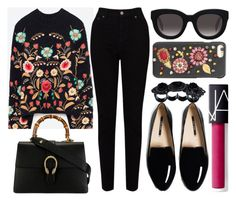 """""""street style"""" by sisaez ❤ liked on Polyvore featuring Belgique, Gucci, EAST, Muse, Dolce&Gabbana, NARS Cosmetics and Dsquared2"""