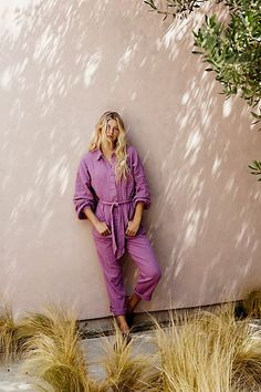 Something To Live In Jumpsuit - Free People Jumpsuits - Long Sleeve Jumpsuit - Tie Waist Jump Suit - Cotton Jumpsuit - Endless Summer Collection Boho Outfits, Summer Outfits, Cute Outfits, Cotton Jumpsuit, The Great Escape, Free People Store, Long Jumpsuits, Sleeve Designs, Pocket Detail