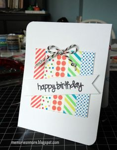 Memories & More: Happy Birthday Washi Cards
