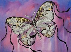 Butterfly. Watercolor and Ink on 140lb arches