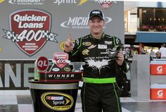 Dale Earnhardt Jr. wins the Quicken Loans 400 at Michigan International Speedway and poses for the die-cast shot in Victory Lane! Pre-order Earnhardt's Michigan Win die-cast at www.lionelnascar.com!