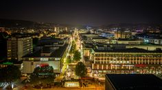 Stuttgart Koenigstrasse by night - a night shot of the main street in stuttgart, germany