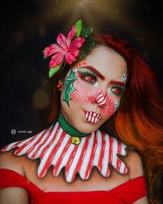 Likes, 21 Comments - Makeup Christmas Makeup Look, Holiday Makeup Looks, Winter Makeup, Face Paint Makeup, Makeup Art, Makeup Face Charts, Amazing Halloween Makeup, Eye Makeup Designs, Creative Makeup Looks