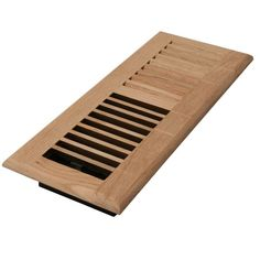 Decor Grates 2 in. x 10 in. Unfinished Oak Louvered Register