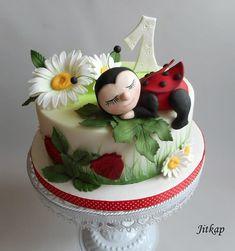 Ladybug cake by Jitkap