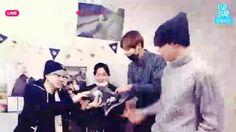 BTS celebrating Sugas Birthday on V app ❤❤❤