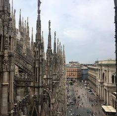 """misszeit: """"The view from the rooftop (at Duomo di Milano - Duomo Cathedral) """""""