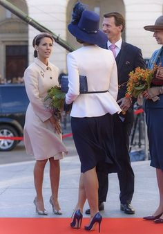 Members of the Danish Royal family attended the opening of the Parliament
