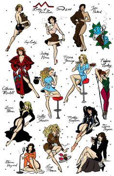 Ladies of Twin Peaks Flash Sheet