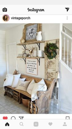 FARMHOUSE LIVING FARMHOUSE TOUCHES LOVE THIS ENTRY WAY SAVED BY WENDY SIMMONS BY INSTAGRAM