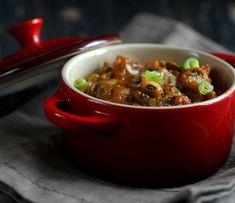 Black Eyed Pea Pumpkin Chard Chili. Glutenfree Vegan Recipe