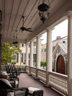 Traditional Exterior/Patio photo by SLC Interiors - Charleston Outdoor Rooms, Outdoor Living, Victorian Porch, Victorian Farmhouse, Modern Victorian, Southern Porches, Southern Homes, Country Porches, Country Homes