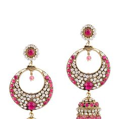 Pink Stone Studded Earring
