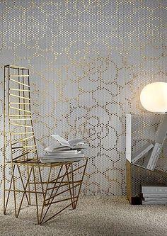 Glazed porcelain stoneware wall tile - PAILLETTES : DECORO CAMELIA - LEA CERAMICHE