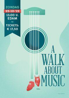 Poster design - A Walk About Music - www.gaafisch.nl