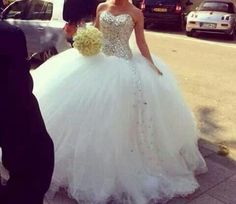 Love the ballgown skirt and lots of bling