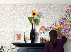 5. Doodles | 20 Ways To Make Your Walls Look UniquelyAmazing