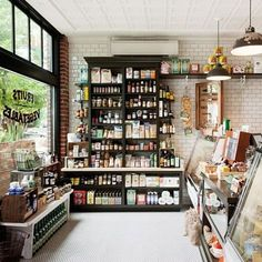 Portland | Woodsman Market - beautiful windows and shelves