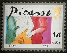 Picasso Stamps - Hands - janeglenholmes.co.uk Blog