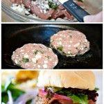 Feta Basil Turkey Burgers. No bun for carb free!