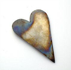 Tessella Designs; Valentine tin heart with rainbow colours.