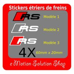 Kit 4 stickers étrier de frein AUDI RS 3 modèles au choix