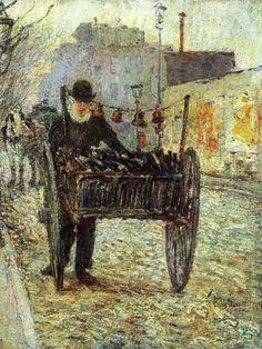 'Old Bottle Man', 1892 ~ Frederick Childe Hassam