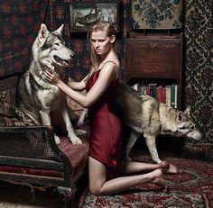 Lara Stone for Vogue UK September 2014