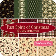 Past Spirit of Christmas Fat Quarter Bundle Judie Rothermel for Marcus Brothers Fabrics #fqsgiftguide