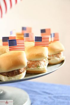 Slider Burger Bar for Fourth of July Party by Heather Christo