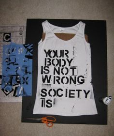 how to upcycle a shirt with a slogan