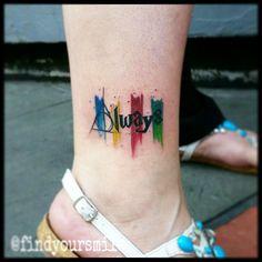 Russell Van Schaick Tattoos — Any Potter fans? #watercolor #watercolortattoo...