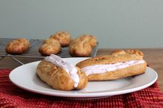 Kitchen Trial and Error: secret recipe club: raspberry cream filled eclairs [12in2012]