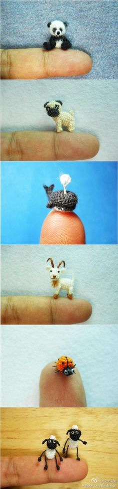 excellent idea - animals made in crochet Crazy amazing is what this is.