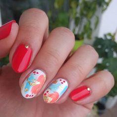 """Polubienia: 143, komentarze: 8 – Jagoda 🇵🇱🇷🇺 Ягода (@paznokcie_jgd) na Instagramie: """"Zainspirowane @onehundredbrushes 💖. . . #ohbvapidgiveaway #paznokcie #czerwonepaznokcie #nails…"""""""