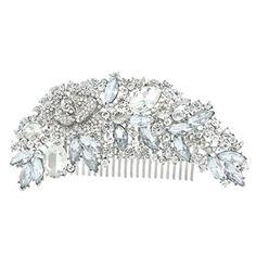 EVER FAITH Bridal Silver-Tone 4.7 Inch Flower Hair Comb Clear Austrian Crystal A06959-2, http://www.amazon.com/dp/B00AMYNGC8/ref=cm_sw_r_pi_awdm_J60hvb1F0BXME